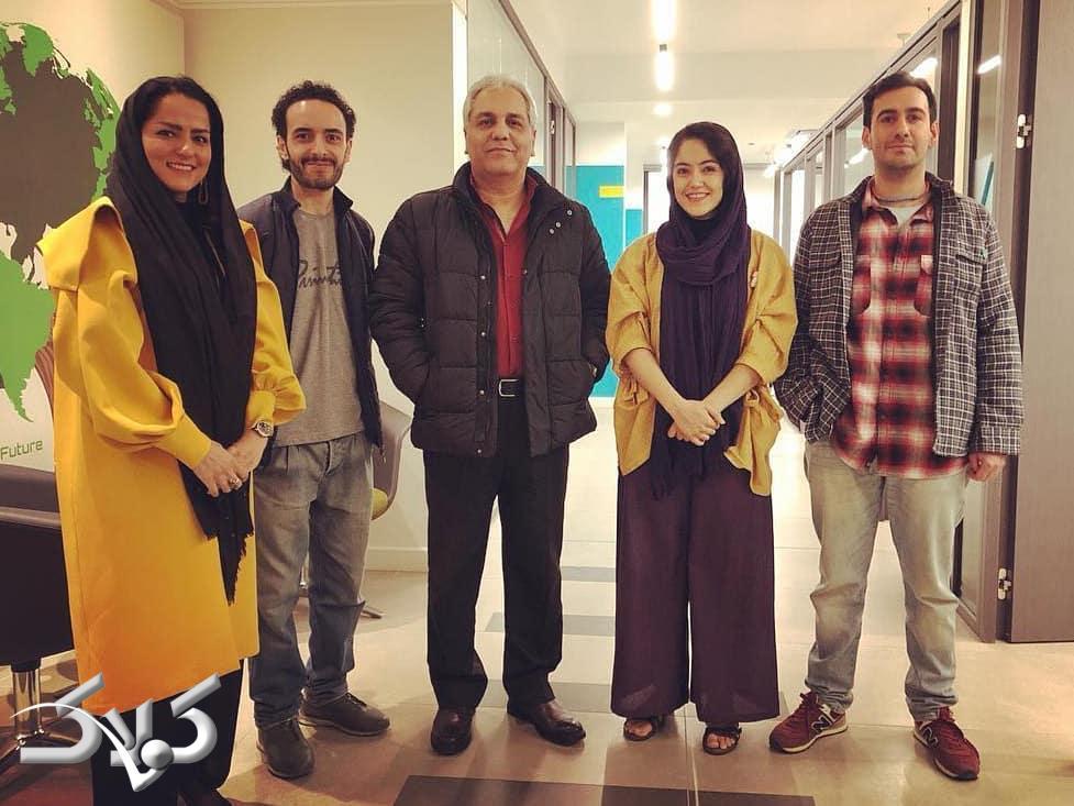 عکسی از مهران مدیری در پشت صحنه سریال هیولا