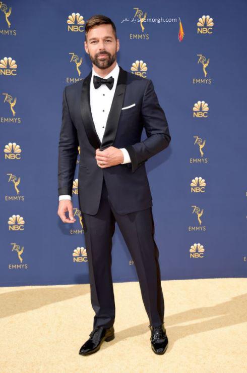 ricki martin عکس های بازیگران مشهور در مراسم امی 2018