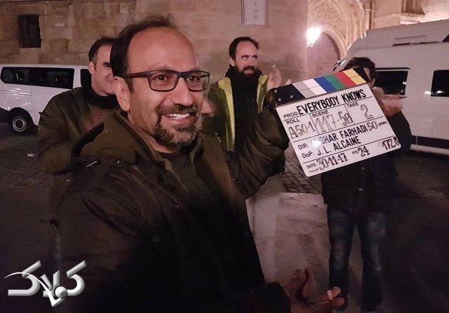 اصغر فرهادی در لوکیشن فیلم همه می دانند